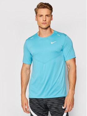 Nike Nike Тениска от техническо трико Dri-Fit Rise CZ9184 Син Standard Fit