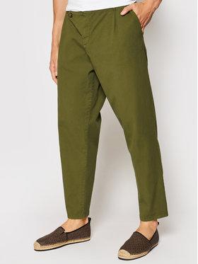 Imperial Imperial Spodnie materiałowe PD2JBLE5KU Zielony Regular Fit