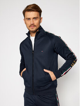 TOMMY HILFIGER TOMMY HILFIGER Džemperis Th Monogram MW0MW15253 Tamsiai mėlyna Regular Fit
