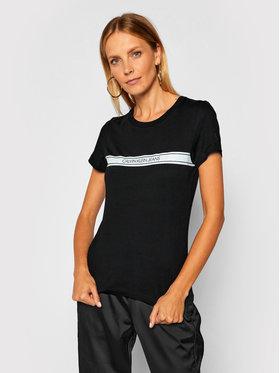 Calvin Klein Jeans Calvin Klein Jeans T-Shirt Stripe Tee J20J214237 Černá Slim Fit