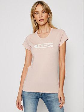G-Star Raw G-Star Raw T-Shirt Graphic 20 D15115-4107-7176 Różowy Slim Fit