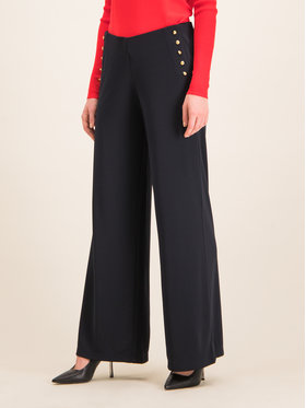 Lauren Ralph Lauren Lauren Ralph Lauren Pantalon en tissu 200692140 Bleu marine Regular Fit