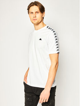 Kappa Kappa T-shirt Grenner 307037 Bianco Regular Fit
