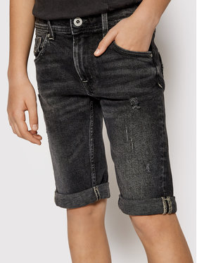 Pepe Jeans Pepe Jeans Kratke traperice Becket PB800135 Crna Slim Fit