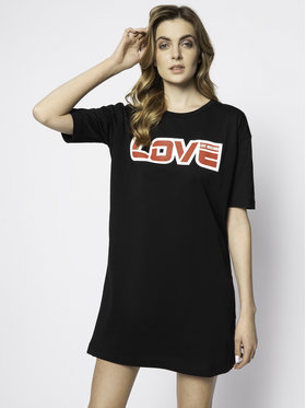 LOVE MOSCHINO LOVE MOSCHINO Každodenní šaty W592321M 3876 Černá Regular Fit