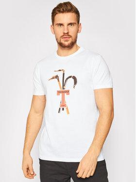Trussardi Jeans Trussardi Jeans Tricou 52T00431 Alb Regular Fit
