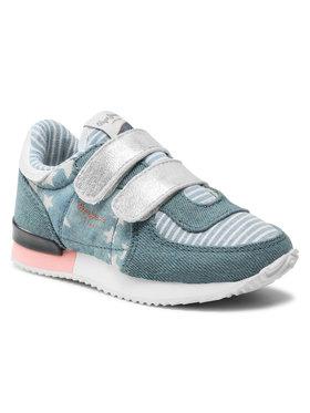 Pepe Jeans Pepe Jeans Sneakersy Sydney Denim Kids PGS30349 Modrá