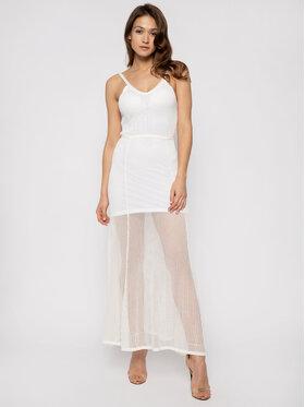 My Twin My Twin Sukienka letnia 201MT3010 Biały Regular Fit