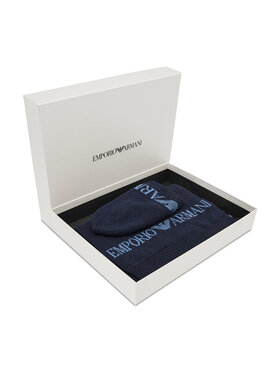 Emporio Armani Emporio Armani Ensemble bonnet + écharpe 628005 CC983 00035 Bleu marine