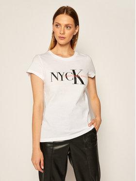 Calvin Klein Jeans Calvin Klein Jeans Tričko Nyck Classic J20J214238 Biela Regular Fit
