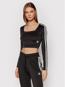 adidas adidas Bluse adicolor Classics H37765 Schwarz Fitted Fit
