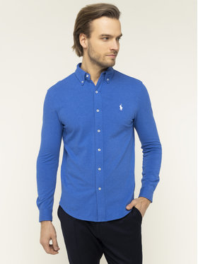 Polo Ralph Lauren Polo Ralph Lauren Ing Pique 710654408 Kék Regular Fit