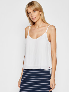 Tommy Jeans Tommy Jeans Top Cami DW0DW09772 Blanc Regular Fit