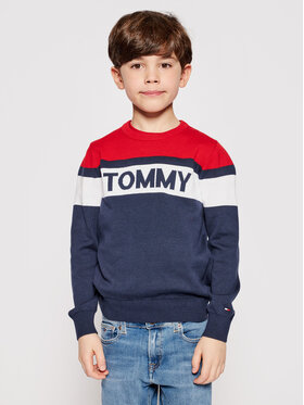 Tommy Hilfiger Tommy Hilfiger Pulover KB0KB06510 D Bleumarin Regular Fit