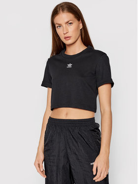 adidas adidas T-Shirt adicolor Essentials Cropped Tee H37882 Černá Regular Fit