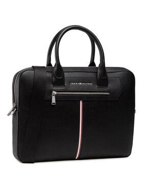 Tommy Hilfiger Tommy Hilfiger Geantă pentru laptop Th Downtown Super Slim Comp Bag AM0AM07216 Negru
