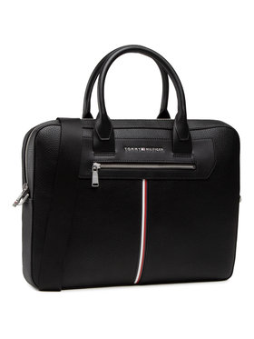 Tommy Hilfiger Tommy Hilfiger Taška na laptop Th Downtown Super Slim Comp Bag AM0AM07216 Čierna