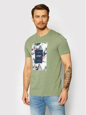 Jack&Jones Jack&Jones Marškinėliai Florall 12186330 Žalia Regular Fit