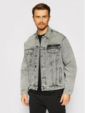 KARL LAGERFELD KARL LAGERFELD Kurtka jeansowa Unisex 211U1400 Szary Regular Fit