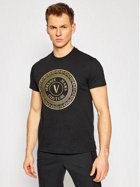 Versace Jeans Couture Versace Jeans Couture Тишърт B3GWA7TE Черен Slim Fit