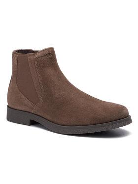 Geox Geox Kotníková obuv s elastickým prvkem U Claudio A U9458A 00022 C6005 Hnědá