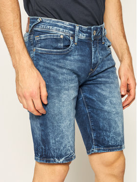 Pepe Jeans Pepe Jeans Pantaloni scurți de blugi Hatch Short Gq9 PM800708 Bleumarin Slim Fit