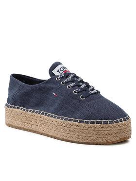 Tommy Jeans Tommy Jeans Espadrilky Essential Flatform Espadrille EN0EN01434 Tmavomodrá