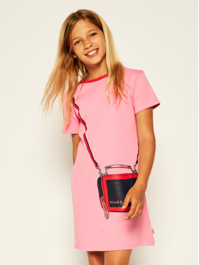 Little Marc Jacobs Little Marc Jacobs Ежедневна рокля W12308 S Розов Regular Fit
