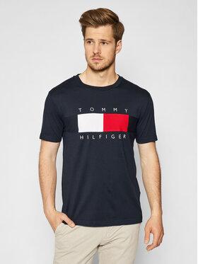 Tommy Hilfiger Tommy Hilfiger T-shirt Texture Insert MW0MW17706 Tamnoplava Regular Fit