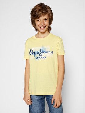 Pepe Jeans Pepe Jeans Marškinėliai Golders Jk PB501338 Geltona Regular Fit