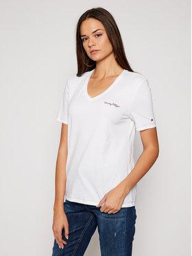 TOMMY HILFIGER TOMMY HILFIGER T-Shirt WW0WW29086 Biały Regular Fit