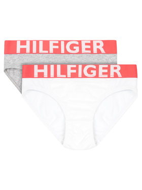 Tommy Hilfiger Tommy Hilfiger 2er-Set Damenslips 2P Bikini UW0UW00216 Grau Regular Fit