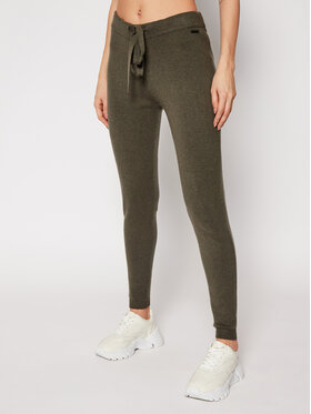 Guess Guess Teplákové nohavice W0RR10 R2QA0 Zelená Regular Fit
