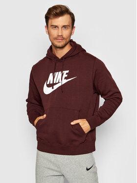 Nike Nike Mikina Sportswear Club Fleece BV2973 Bordó Standard Fit