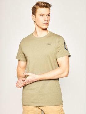 G-Star Raw G-Star Raw T-Shirt Shied Orint D16381-366-2199 Zielony Regular Fit
