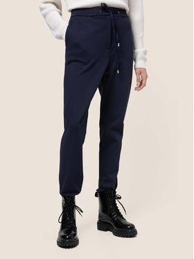 Hugo Hugo Spodnie materiałowe Honesi 50439199 Granatowy Regular Fit