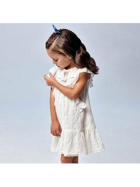 Mayoral Mayoral Ежедневна рокля 3944 Бял Regular Fit
