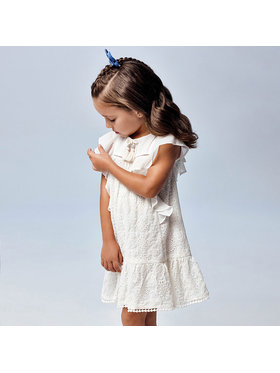 Mayoral Mayoral Φόρεμα καθημερινό 3944 Λευκό Regular Fit