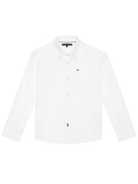 TOMMY HILFIGER TOMMY HILFIGER Πουκάμισο Essential Oxford KB0KB06127 D Λευκό Regular Fit