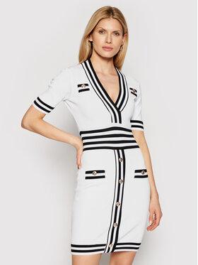 Silvian Heach Silvian Heach Sukienka dzianinowa Bertha PGP21246VE Biały Slim Fit