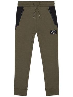 Calvin Klein Jeans Calvin Klein Jeans Долнище анцуг Colour Block IB0IB00598 Зелен Regular Fit