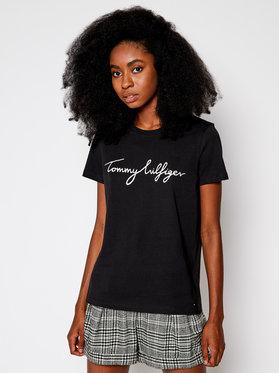Tommy Hilfiger Tommy Hilfiger T-Shirt Heritage Crew Neck Graphic Tee WW0WW24967 Μαύρο Regular Fit
