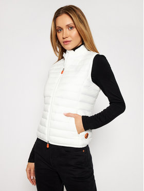 Save The Duck Save The Duck Gilet D85310W GIGA Bianco Slim Fit