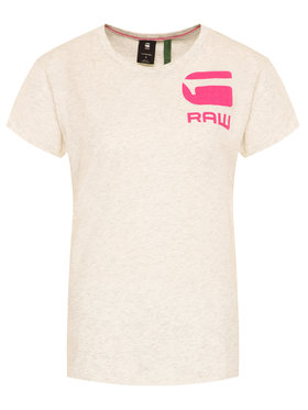 G-Star Raw G-Star Raw T-Shirt Gyre Dialw D16280-4107-971 Beżowy Regular Fit