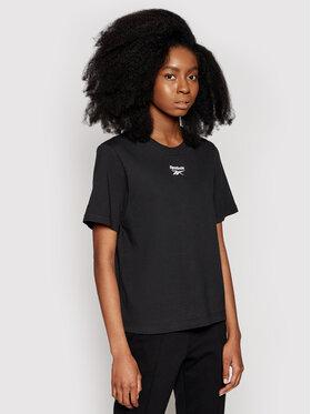 Reebok Reebok T-Shirt Small Logo GJ4971 Černá Relaxed Fit
