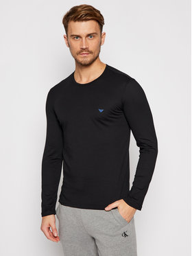 Emporio Armani Underwear Emporio Armani Underwear S dlhými rukávmi 111653 0A722 20 Čierna Regular Fit