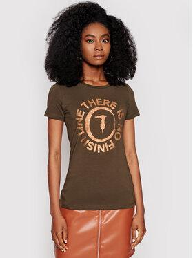 Trussardi Trussardi T-Shirt 56T00382 Zielony Slim Fit