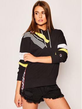 Champion Champion Sweatshirt Graphic Stripe 112758 Schwarz Regular Fit