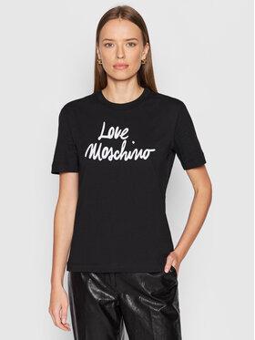 LOVE MOSCHINO LOVE MOSCHINO Tricou W4H0618M 3876 Negru Regular Fit