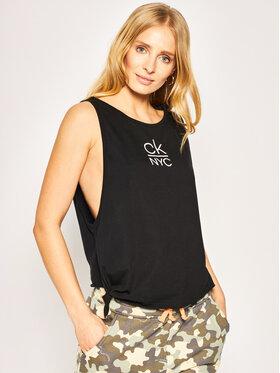 Calvin Klein Swimwear Calvin Klein Swimwear Топ Side Knotted KW0KW01026 Черен Regular Fit